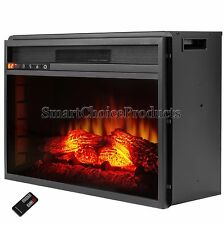 23 in. Insert Heater with Tempered Glass Freestanding Electric Fireplace