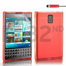 SOFT GEL CASE SKIN TPU SILICONE COVER FOR BLACKBERRY PASSPORT