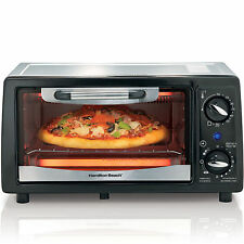 Hamilton Beach 4 Slice Toaster Oven Broiler, Countertop Pizza Oven - NEW