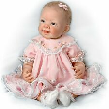 Pretty in Pink 21'' realistic baby doll by Ashton Drake, New, NRFB