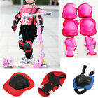 6PC Set Kid Knee Elbow Wrist Protective Pad Cycling Roller Skating Safety Gear