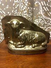 Antique Lamb Chocolate Mold Mould, Agneu Sheep Easter FREE shipping