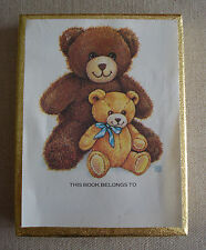 Vintage Antioch Teddy Bear  Bookplates Gummed Opened 39 of 50 Unused