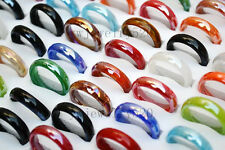 FREE wholesale Bulk 100pcs murano glass rings in box fashion jewelry 17-19mm