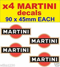 x4 Martini rally stickers race motorcycle decals honda moto gp classic bike