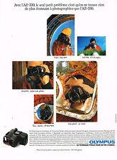 PUBLICITE ADVERTISING 025  1990  OLYMPUS  appareil photo   AZ 330