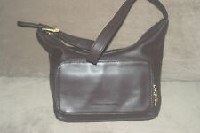 Stone mountain genuine chocolate brown leather handbag