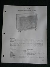 Seeburg Discotheque Speaker System DDS2 Service Manual Information Sheets