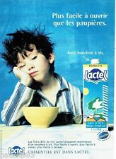 PUBLICITE ADVERTISING 116  2000  le lait  tetra brick  Lactel  tretra pack