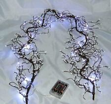 White Beaded Wire Garland wBattery lights also table decoration Xmas or weddings