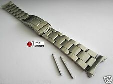 Oyster Style Stainless Steel Men's Watch Band Bracelet 20 mm All Brushed