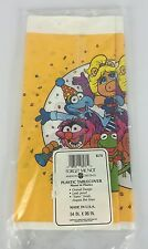 "Vintage Muppet Show American Greetings Plastic Tablecloth Cover 54"" x 95"" NIP"