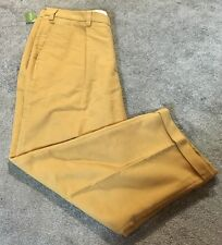 NEW w/ TAGS ORVIS PREMIUM MOLESKIN CAMEL PLEATTED PANTS 42 x 30 LIST $149