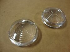 BIG DOG CLEAR CIRCLE TURN SIGNAL LENS COVER SET ALL MODELS K-9 PITBULL MASTIFF
