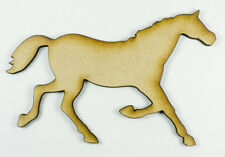 MDF Wood Wooden Shape / Shapes Horse Cutout for Craft Home Room Decor Kids