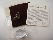 VINTAGE BEATRIX POTTER  PETER RABBIT STERLING SILVER PIN TACK BY HAND & HAMMER