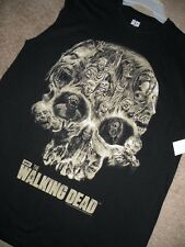 NEW AMC HIT SHOW THE WALKING DEAD ZOMBIES SKULL MENS MEDIUM BLACK TANK TOP NWT