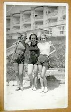 Teenage Girls Beach RPPC Signed FOTO TIZIAN (Leika) Novy Smokovec