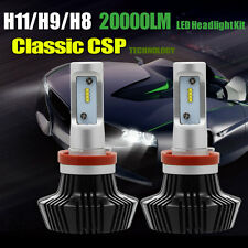 H11 H8 H9 200W Philips LED Driving HeadLight Lamps Bulbs White 20000LM Ballast