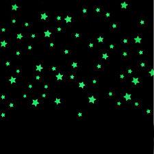 100 PEZZI Cameretta Bambini Splendido Fluorescente Si Illumina Al Buio Stelle