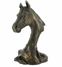 Large Horse Head Bust Riding Racing Statue Bronze Sculpture Statue NEW 01764