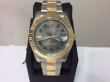 NEW ROLEX Ref. 116333 Datejust II 18K & S/Steel 41mm w/ New Slate Dial!! Superb!