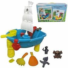 BEACH PIRATE SHIP SAND AND WATER TABLE WORK PIT DESK PLAY MOULDS TOY GAME 645483