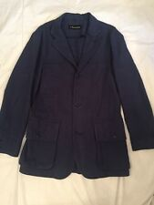 J. Peterman Indigo Linen French Field Jacket Men's 36 Never Worn Medium Preppy