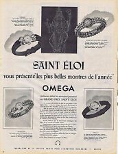 PUBLICITE ADVERTISING 094 1953 OMEGA montre primée au Grand Prix Saint Eloi