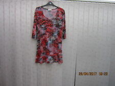 Kim co scoop neck tunic top size small flame red