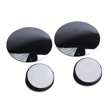 1 Pair Wide Angle Convex Car Blind Spot Round Stick-On Side View Rearview Mirror