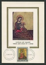VATICAN MK 1971 GEMÄLDE MADONNA JESUS ART MAXIMUMKARTE MAXIMUM CARD MC CM c9246