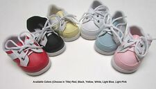 "Doll Shoes, 85mm BLACK w White New Sporty for Chatty, My Twinn 20"", others"