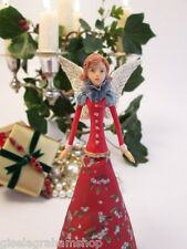 GISELA GRAHAM Christmas tree topper fairy angel with mistletoe elegant unusual