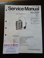Original Service Manual    Panasonic Mini Cassette RQ-JA65
