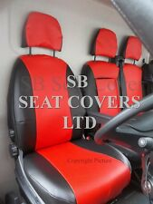 TO FIT A FIAT DUCATO VAN SEAT COVERS - 2016, POPPY RED LEATHERETTE