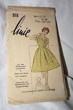 Original 50er Jahre DDR Die Linie Kleid Gr 42 Schnittmuster G-10721 Retro Nähen