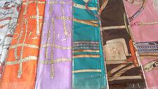 Joblot 24 pcs Faux silk scarf/scarves NEW wholesale 90x90 cm Lot C