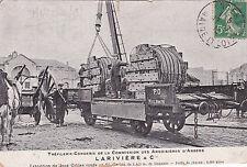 ANGERS 94 commission des ardoisières tréfilerie-corderie LARIVIERE timbrée 1913