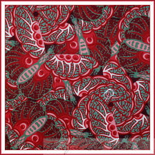 BonEful Fabric FQ Cotton Quilt Butterfly Red Pink Sm Hippie Wild Wings Fan Asian