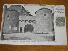 Flavigny Porte du Val Côté extérieur Carte postale ancienne Côte d'Or Bourgogne