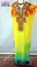 KAFTAN EMBELLISHED NEW long silk crepe stunning 10/16 summers day sale