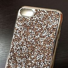 For iPhone 7 - CRYSTAL DIAMOND RHINESTONE STUDS HARD TPU RUBBER GUMMY CASE COVER