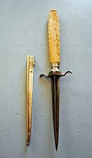 OLD STYLET OF PROSTITUTE, XIXth, DAGGER VERTUE, PIQUECOUILLE, NICE FRENCH DAGGER