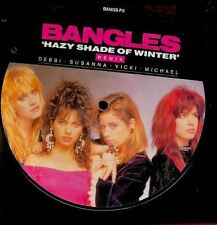 THE BANGLES PICTURE DISC UK HAZY SHADE OF WINTER
