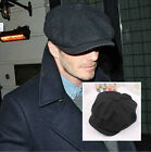 NEW Unisex Mens Womens Wool Baker Boy Newsboy Cabbie Gatsby Flat Cap Hats BLACK