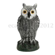 Fake Standing Owl Decoy Deterrent Birds Pigeon Scarer Repeller Home Garden Decor