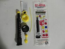 EZ Pour Gas Can Nozzle Spout Kit Fits most Cans Black Gas Diesel Water Kerosene