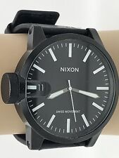 Nixon Magnified The Chronicle Men's Watch LEFTY 100M Swiss Black & White (N1017)
