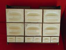 Petit meuble avec tiroirs en faïence pour épices loft design vintage